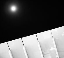 Moon Over Century City by rengiemendoza