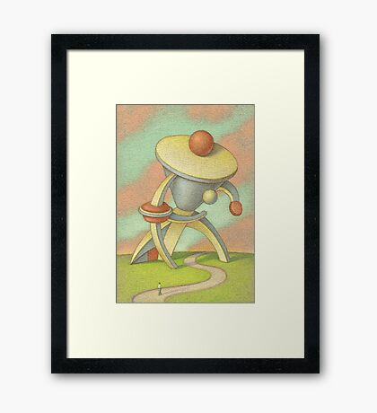 Man with a large collar Framed Print