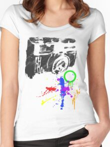 Camera Burst! Women's Fitted Scoop T-Shirt