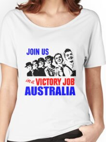 VICTORY JOBS-AUSTRALIA Women's Relaxed Fit T-Shirt