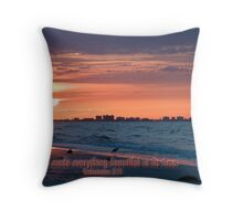 He had made everything beautiful in its time Throw Pillow