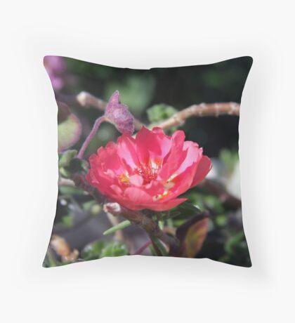 Pink Begonia Throw Pillow