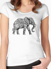 Ornate Elephant 3.0 Women's Fitted Scoop T-Shirt