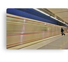 Metro Red Line Canvas Print