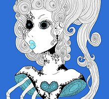 Blue Bust.  by eldritchgoddess