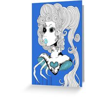 Blue Bust.  Greeting Card