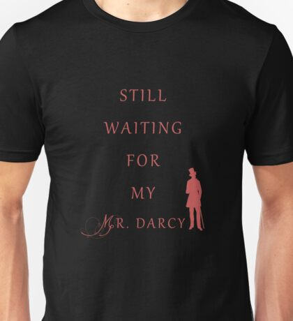 Waiting for My Darcy- Red Unisex T-Shirt