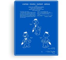 Jose Carioca Patent - Blueprint Canvas Print