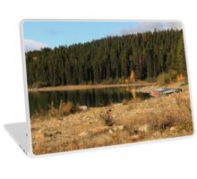 Pyramid Lake, Jasper National Park Laptop Skin