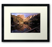 Dream Lake at Sunrise Framed Print