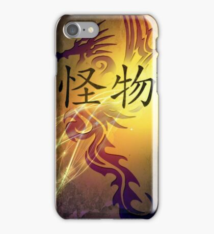 "Dragon Skin 3 with light / ""monster"" iPhone Case/Skin"