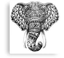 Ornate Elephant Head Metal Print