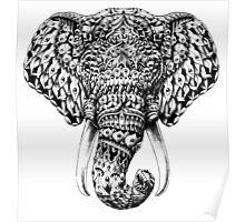 Ornate Elephant Head Poster