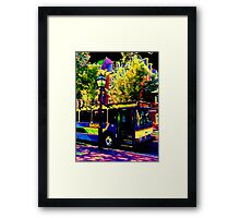 THE DASH Framed Print