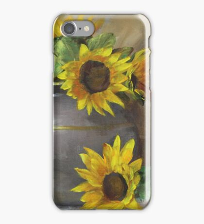 Sunflowers with Pottery Painting iPhone Case/Skin