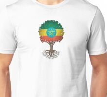 Tree of Life with Ethiopian Flag Unisex T-Shirt