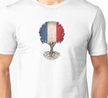 Tree of Life with French Flag Unisex T-Shirt