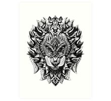 Ornate Lion Art Print