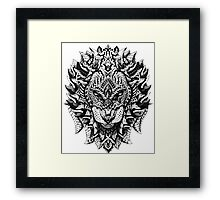 Ornate Lion Framed Print
