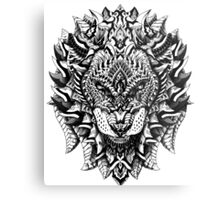 Ornate Lion Metal Print