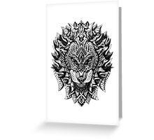 Ornate Lion Greeting Card