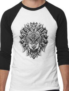 Ornate Lion Men's Baseball ¾ T-Shirt