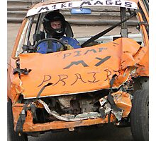 Banger Racing Photographic Print