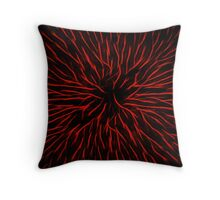Blazing Red Hot Fire Flower Abstract Throw Pillow