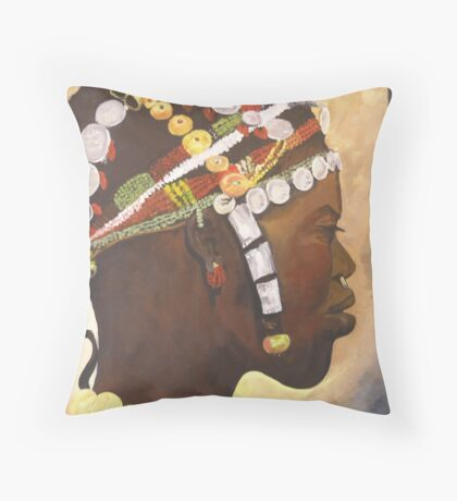 African Prince Throw Pillow
