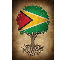 Tree of Life with Guyanese Flag Photographic Print
