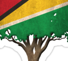 Tree of Life with Guyanese Flag Sticker