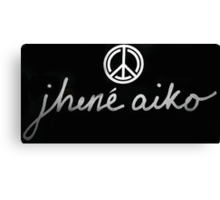 Jhene Aiko Logo Canvas Print