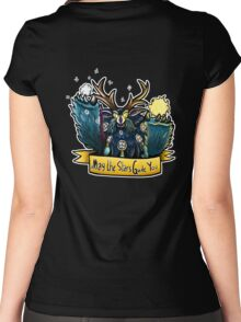 May the Stars Guide You - Boomkin Women's Fitted Scoop T-Shirt