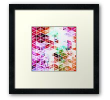 Pink Grungy Triangle Design Framed Print