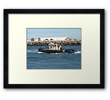 Heading off to Work Framed Print