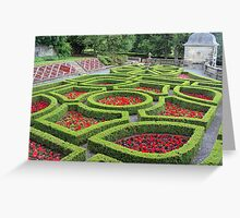Pollok House - more of the formal garden Greeting Card