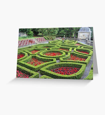 Pollok House - more of the formal garden Greeting Card