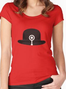 Bowler Hat 6 Women's Fitted Scoop T-Shirt