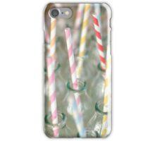 pink straws blue straws yellow straws iPhone Case/Skin