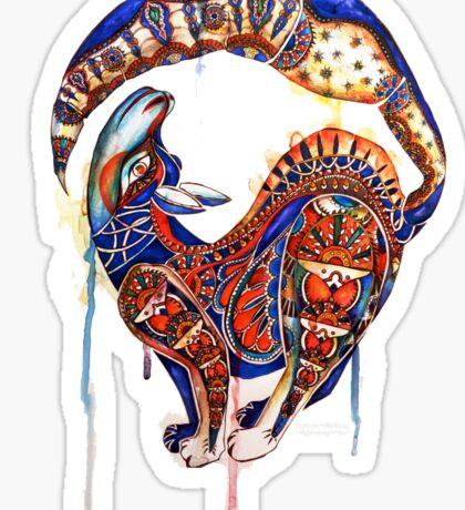 Alebrijes/Paisley Wolf Watercolor Sticker