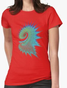 Dragon Swirl Womens Fitted T-Shirt