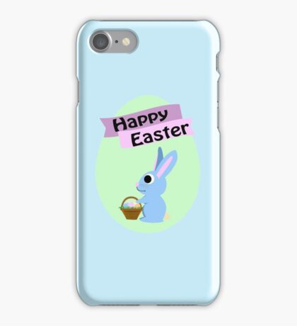 Happy Easter Blue Bunny iPhone Case/Skin