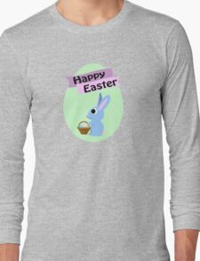 Happy Easter Blue Bunny Long Sleeve T-Shirt