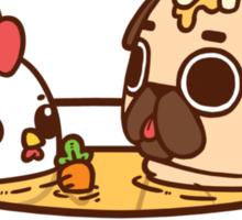 Chicken Noodle Puglie Sticker