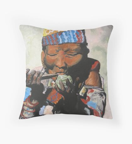 Sippin' Grandma Throw Pillow