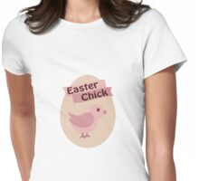 Pink Easter Chick Womens Fitted T-Shirt