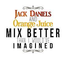 Jack Daniels and Orange Juice Photographic Print