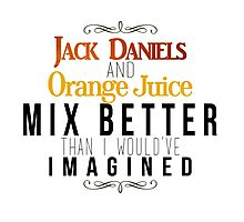 Jack Daniels and Orange Juice Photographic Print