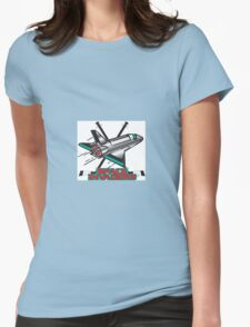 Space Invaders Hockey Club Womens Fitted T-Shirt