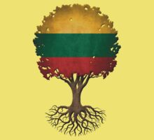 Tree of Life with Lithuanian Flag One Piece - Short Sleeve